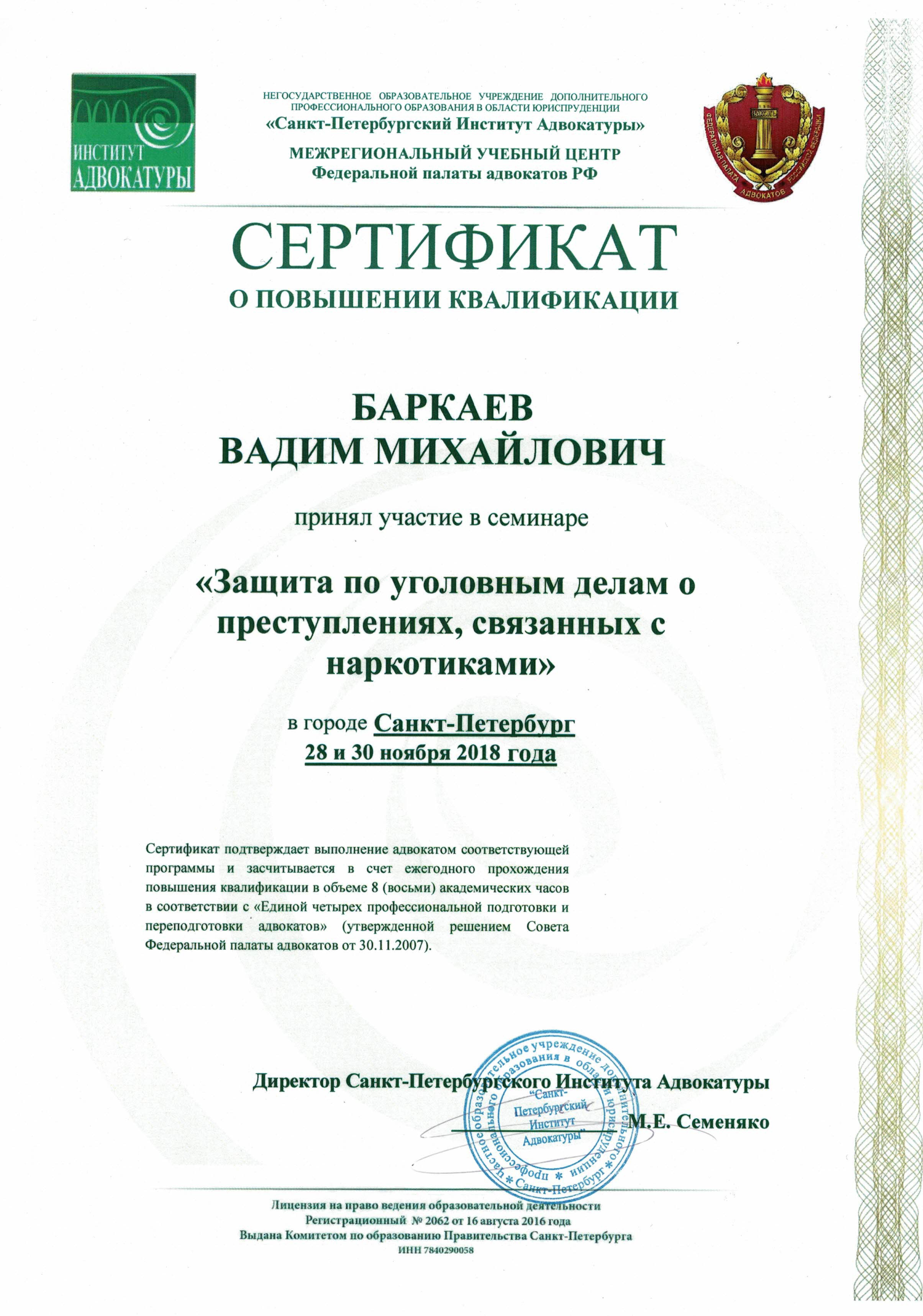 адвокат уголовные дела петербург